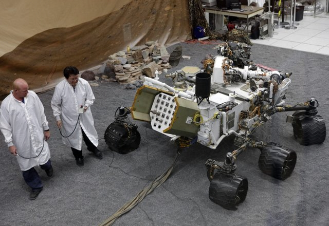 The Curiosity Rover at JPL