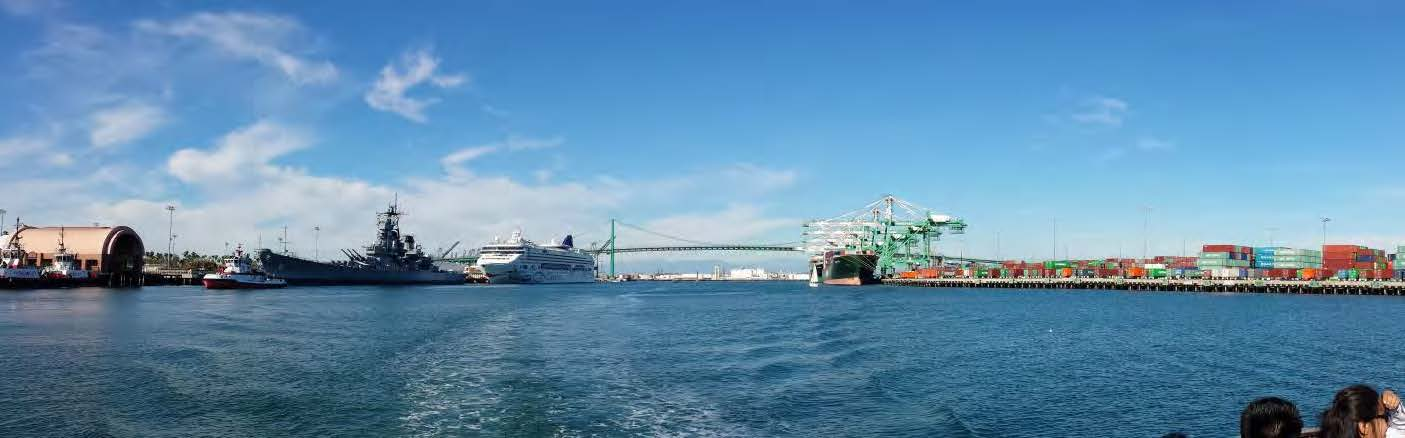 The ports of Long beach and Los Angeles