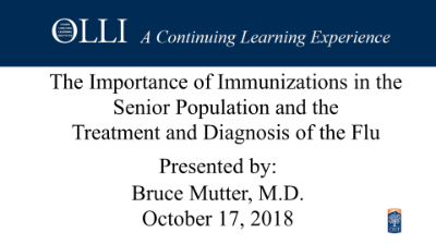 Senior Immunizations and the Flu