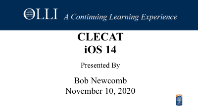 Click here to view CLECAT 11-10-2020 video