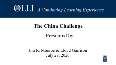 Click here to view China Challenge.