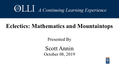 Click here to view Mathematics and Mountaintops