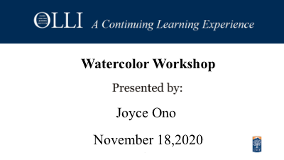 Click here to view Watercolor Workshop 11-18-2020 video