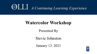 Click here to view Watercolor Workshop 1-13-2021 video