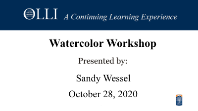 Click here to view Watercolor Workshop 10-28-20