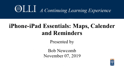 Click here to view the iPhone iPad Maps Calender Reminders 2019-11-07 video