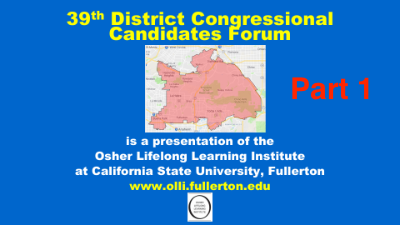 Click here to see part 1 of the 39th Congressional Forum