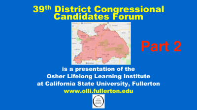 Click here to view the 39th Congressional Forum Part 2