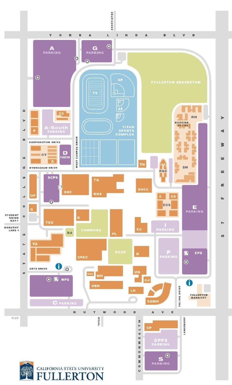 Cal State Fullerton Campus Map Maps   Osher Lifelong Learning Institute | CSUF