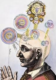 Man with various thoughts emanating from his head