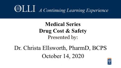 Click here to view Drug Cost & Safety 10-14-20 video